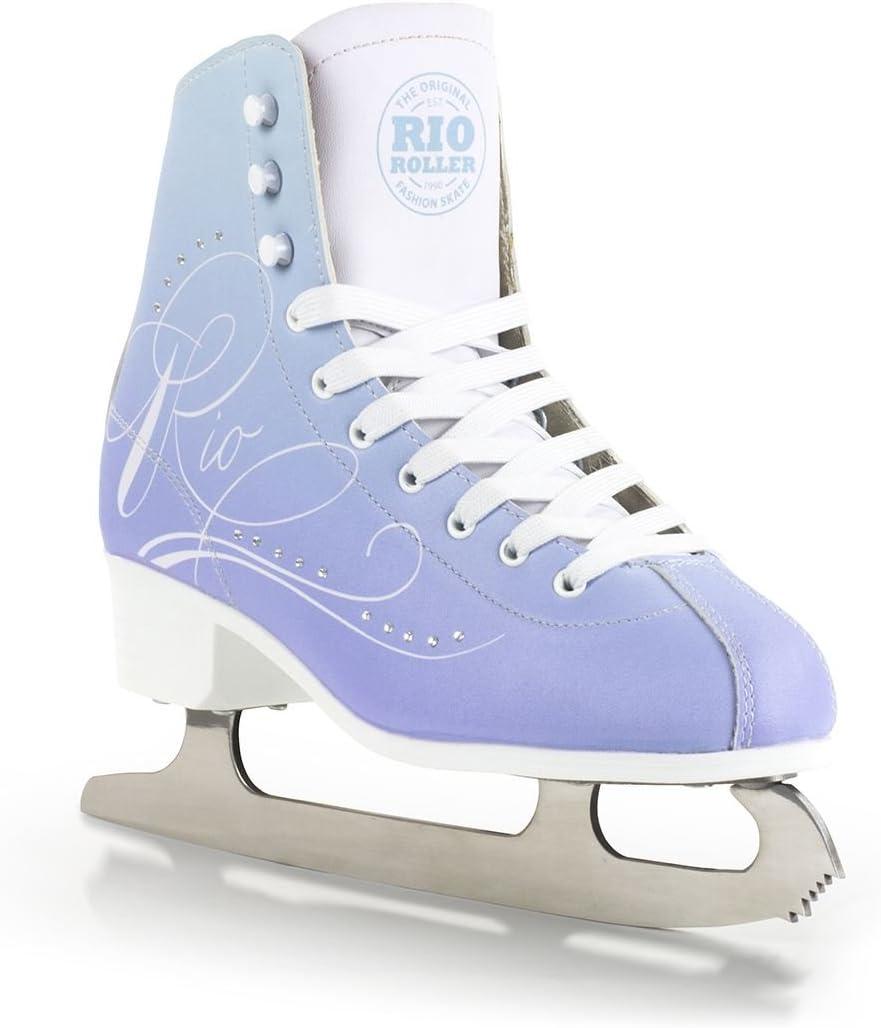 Rio Roller Moonlight Figure Womes Kids Ice Skates Blue Uk2 Uk7 Amazon Co Uk Sports Outdoors