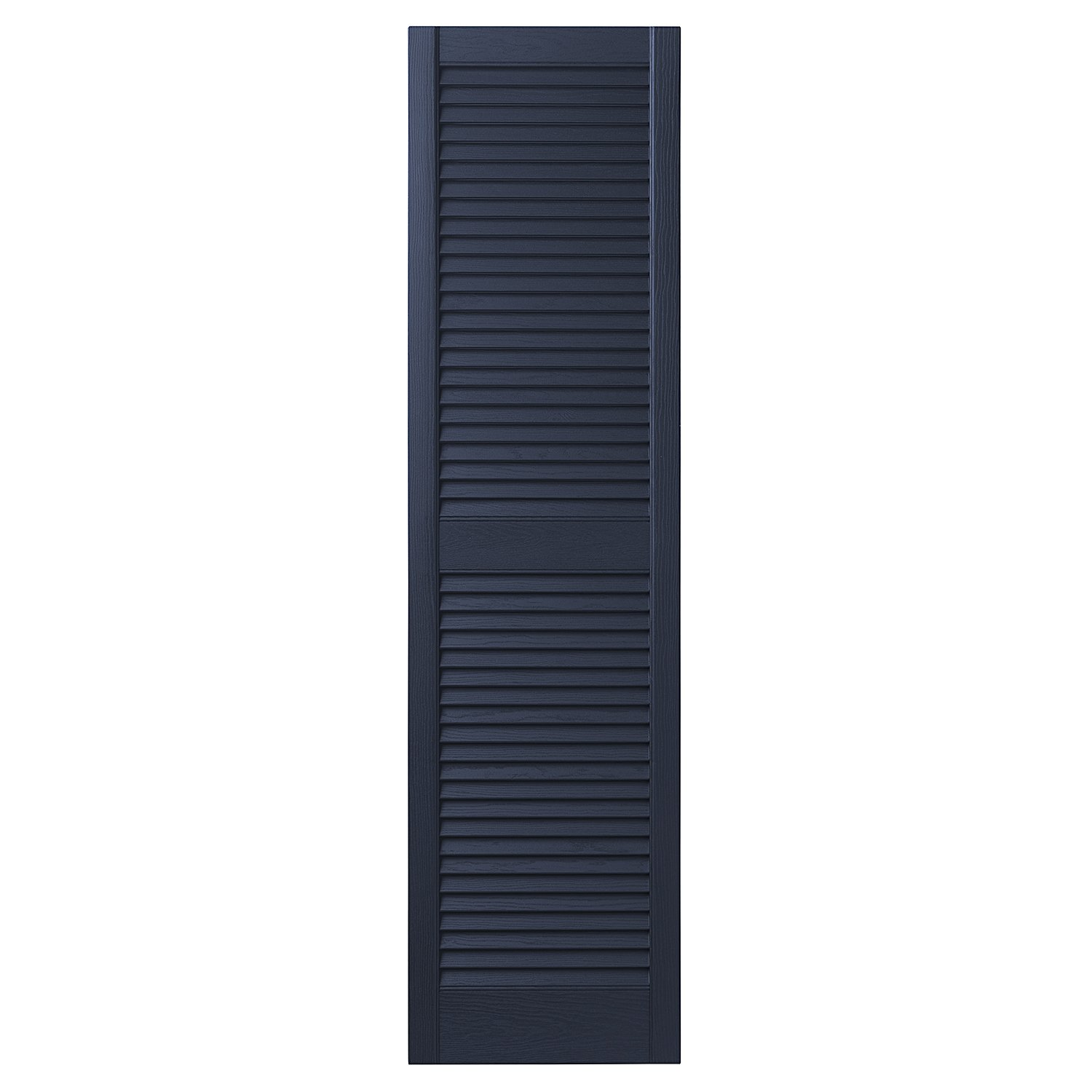 Ply Gem Shutters and Accents VINLV1559 95 Louvered Shutter 15'' Dark Navy by Ply Gem Shutters and Accents