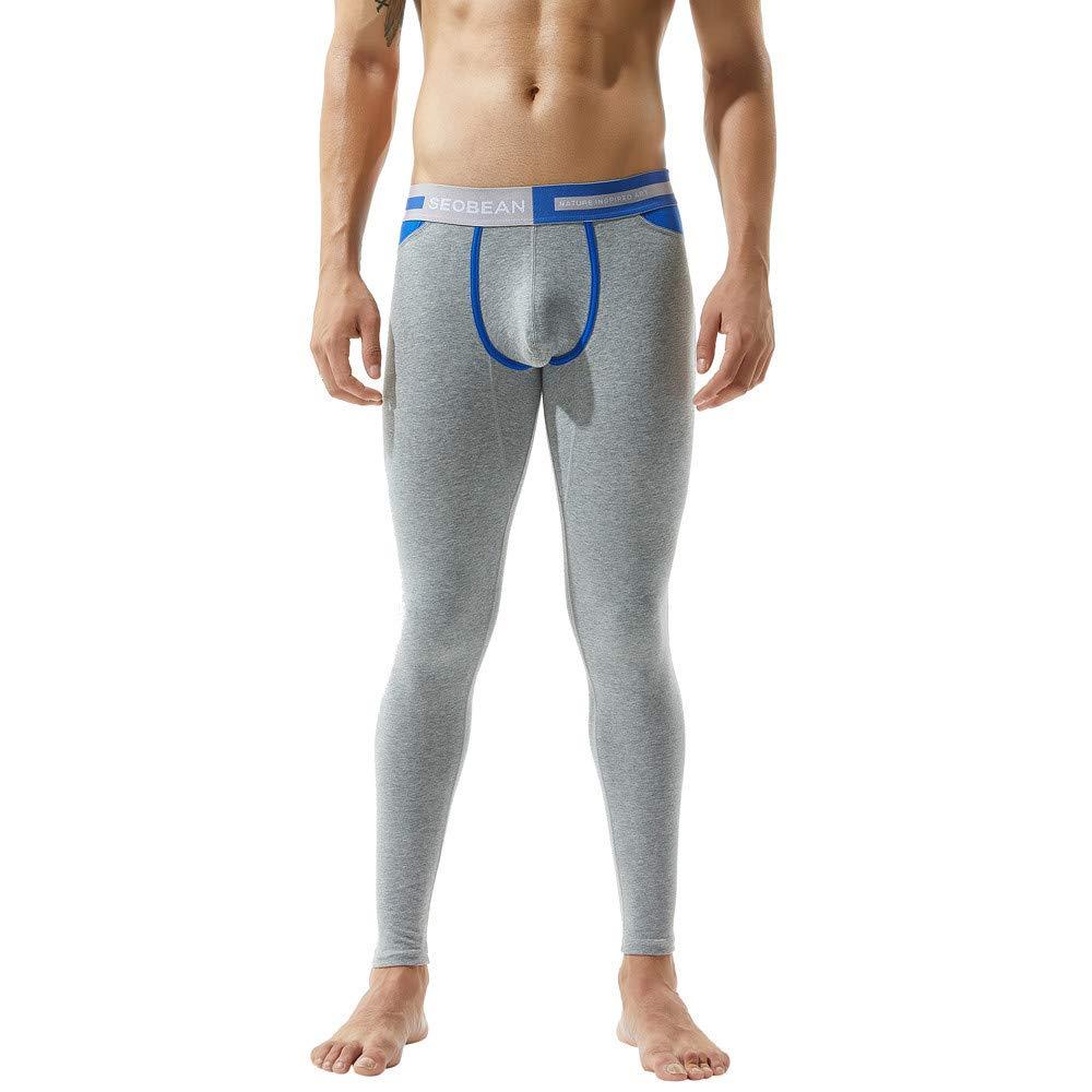 Innerternet Homme Longs Thermiques Johns Legging De Sport Coton Imprimé sous-VêTements Autumne Hiver Respirant Doux Pantalon