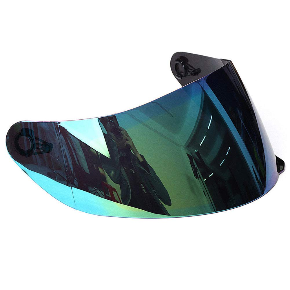 plateado visera protectora completa para casco de motocicleta casco de motocicleta desmontable Visera para casco de motocicleta protecci/ón UV