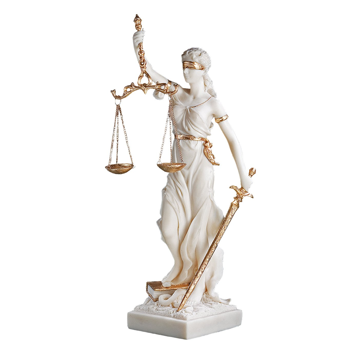 Design Toscano Themis Blind Lady of Justice Statue Lawyer Gift, 13 Inch, Bonded Marble Polyresin, White by Design Toscano