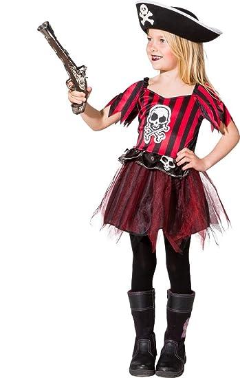 Orlob Kinder Kostum Piratin Piratenbraut Kleid Karneval Fasching Gr