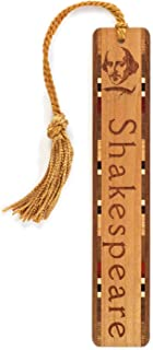 product image for Personalized William Shakespeare Poet - Playwright - Portrait with Name - Engraved Wooden Bookmark with Tassel - Search B012DOW0TO for Non-Personalized Version