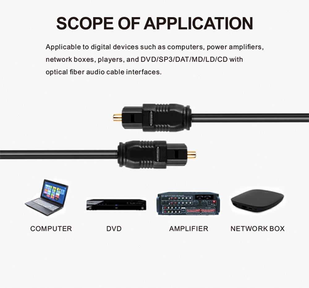 16 ft toslink digital /óptico SPDIF Cable de audio 5 M//16 pies cable de audio /óptico QiCheng/&LYS