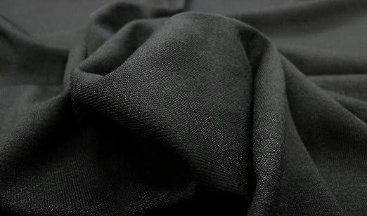 1 Meter Viskose Elasthan BI-ELASTISCH Bekleidungs Stoff elastisch Stoffe SCHWARZ