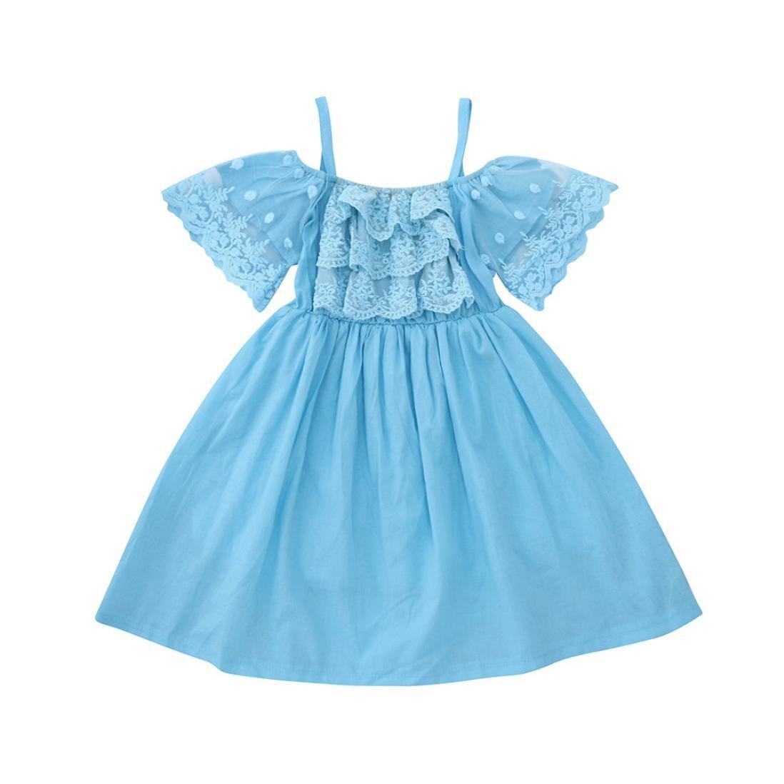 💜 Vestidos Niñas Encaje Ceremonia,Flor Chicas Princesa Dress Kids Bebé Vestidos de Encaje del Desfile de la Boda del Partido Ropa Absolute: Amazon.es: Ropa ...