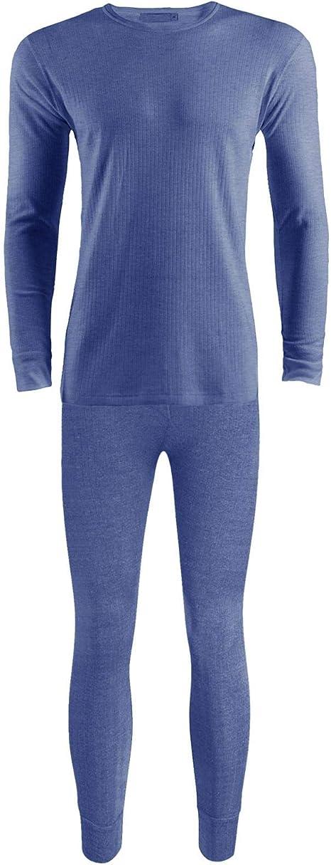 GA Communications Mens Thermal Full Set Underwear Long Johns Trouser /& Shirt Long Sleeve Crew Neck TOP