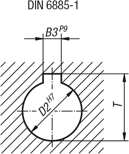 D2/= 16 Bascule main Roue avec /écrou en fonte grise Komp: acier 1/pi/èce k0671.3160/x 16 D1/= 160