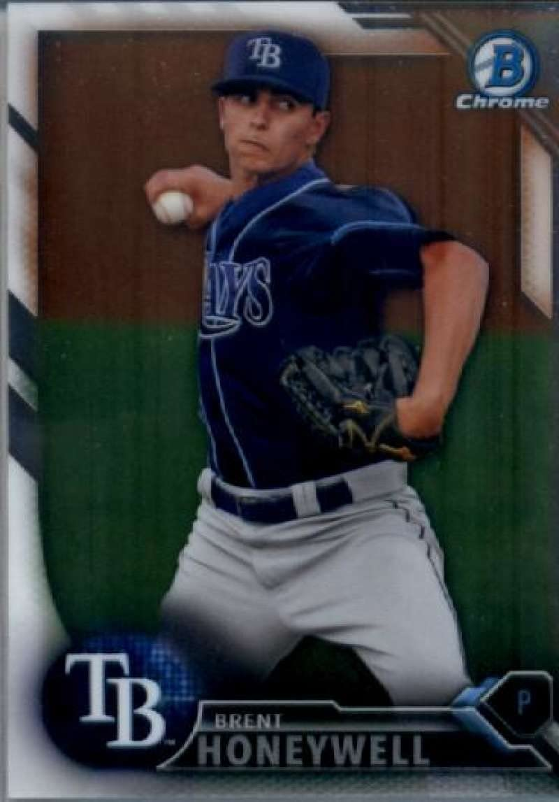 2016 Bowman Draft Chrome #BDC-184 Brent Honeywell Tampa Bay Rays Baseball Card