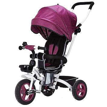Triciclo de niños, Coche Plegable, Cochecito de bebé (Color : Purple): Amazon.es: Hogar