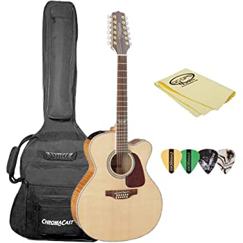 takamine gj72ce 12 nat kit 1 jumbo cutaway 12 string acoustic electric guitar. Black Bedroom Furniture Sets. Home Design Ideas