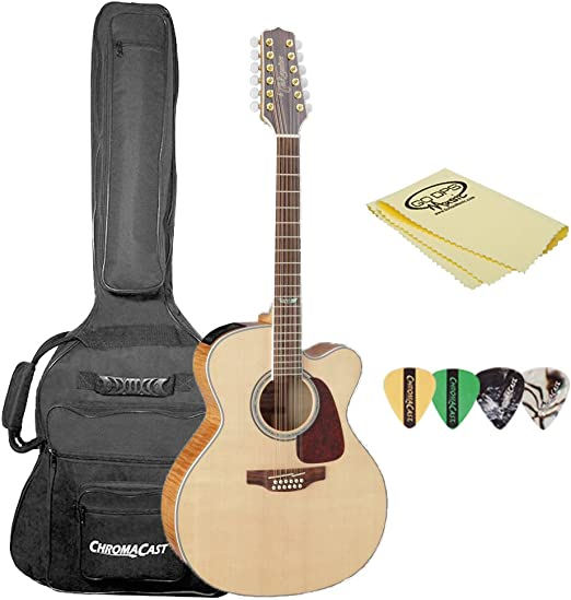 Takamine GJ72CE-12BSB Jumbo Cutaway 12-String Acoustic-Electric ...