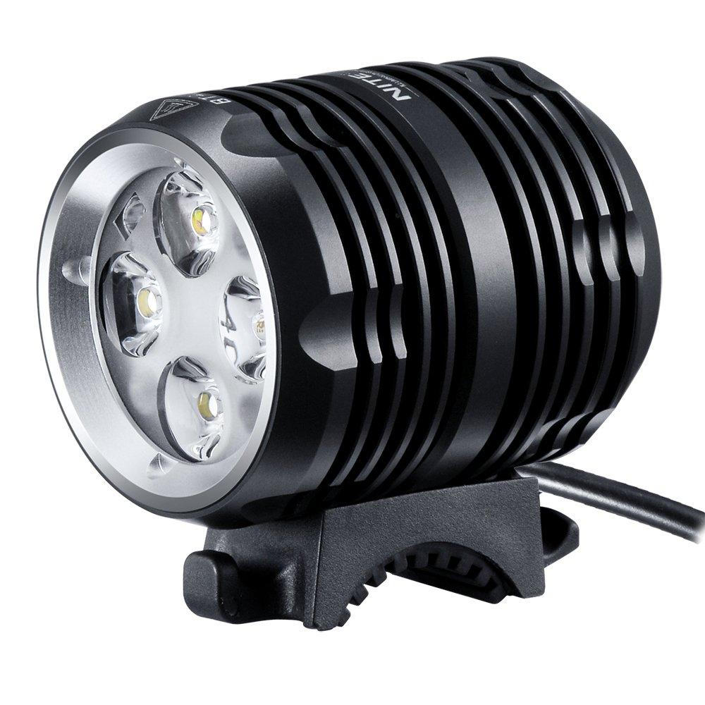 Revtronic 1600 Lumens Bike Light - Cree LED Bike Lights - Mountain Bike Headlight Bundle with 5200mAh Rechargeable Battery Pack, AC Charger