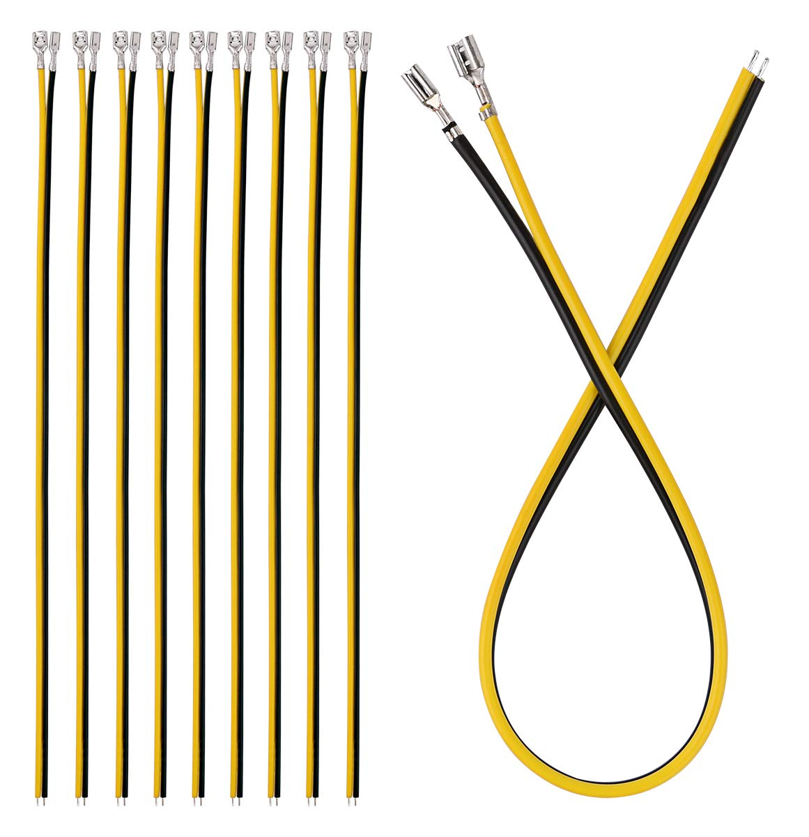 Quick Splice Crimp Terminals Kit AWG 22~14 Gauge for Car Audio Speaker 180pcs Brass Crimp Terminal Female Spade Connector with 180pcs Insulating Sleeve (2.8//4.8//6.3mm)