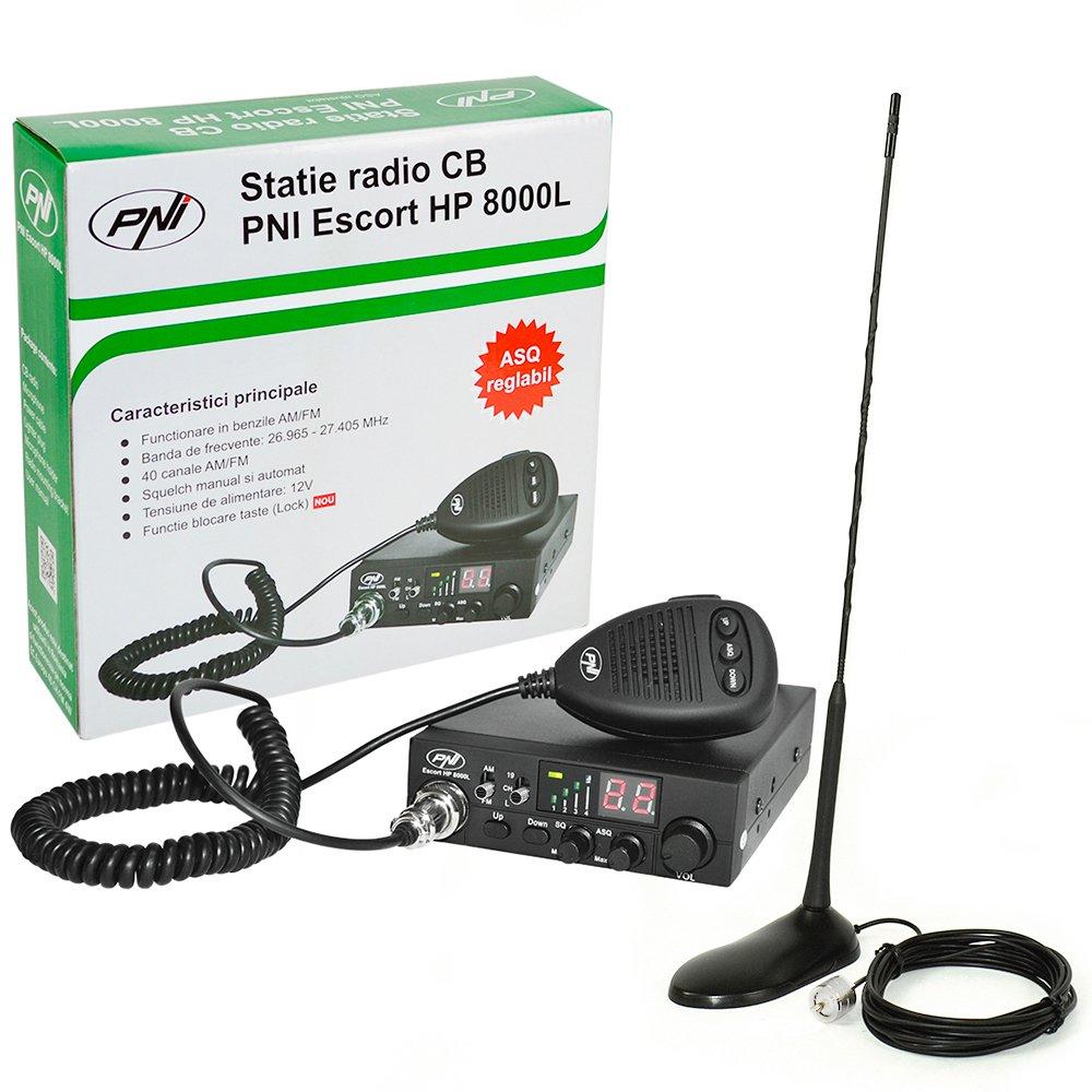 Radio CB PNI Escort HP 8001L ASQ incluye auriculares con micr/ófono