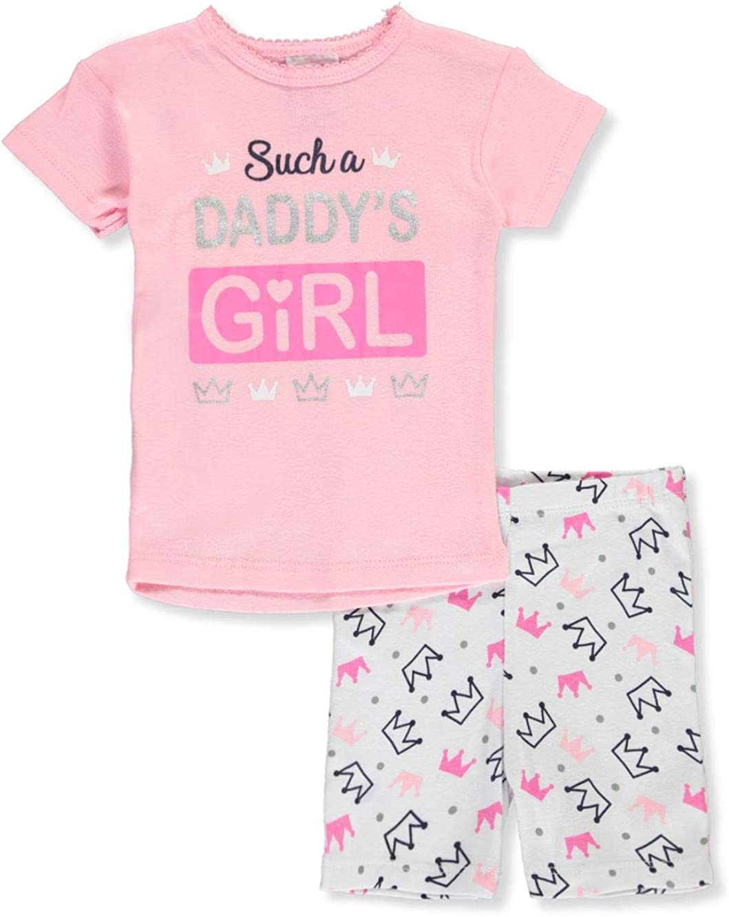 Mon Petit Baby Girls Picture Perfect Daddys Girl 2-Piece Pajamas