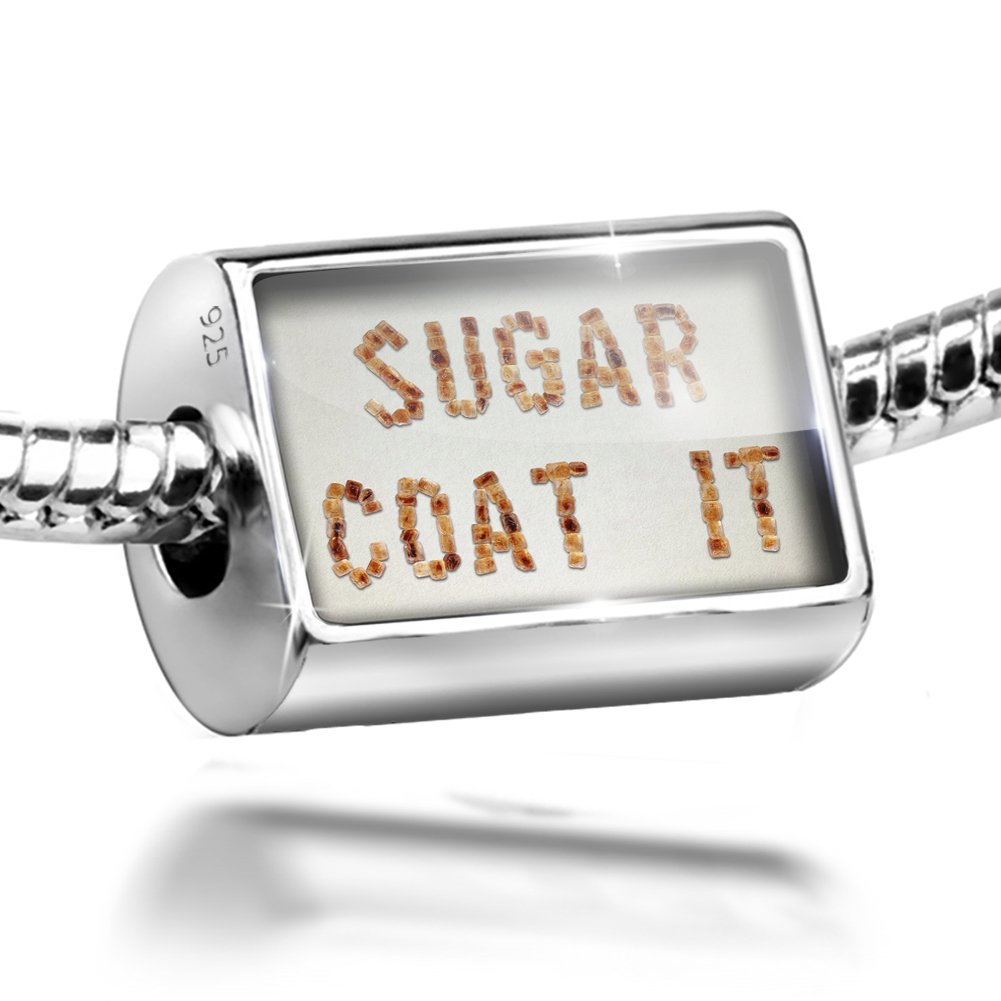 Sterling Silver Bead Sugar Coat It Brown Sugar Tea Charm Fits All European Bracelets by NEONBLOND (Image #1)