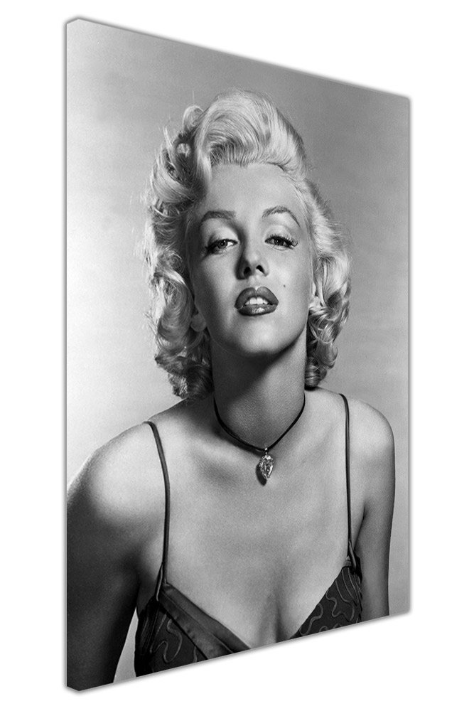 BLACK AND WHITE CANVAS PRINTS MARILYN MONROE PORTRAIT WALL ART PICTURES HOME NOSTALGIA Canvas It Up