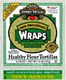 Tumaro's 10-Inch Wraps, Garden Spinach & Vegetables, 14-Ounce Packages (Pack of 6)