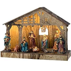 Werchristmas decoraci n de portal de bel n de navidad de for Amazon figuras belen