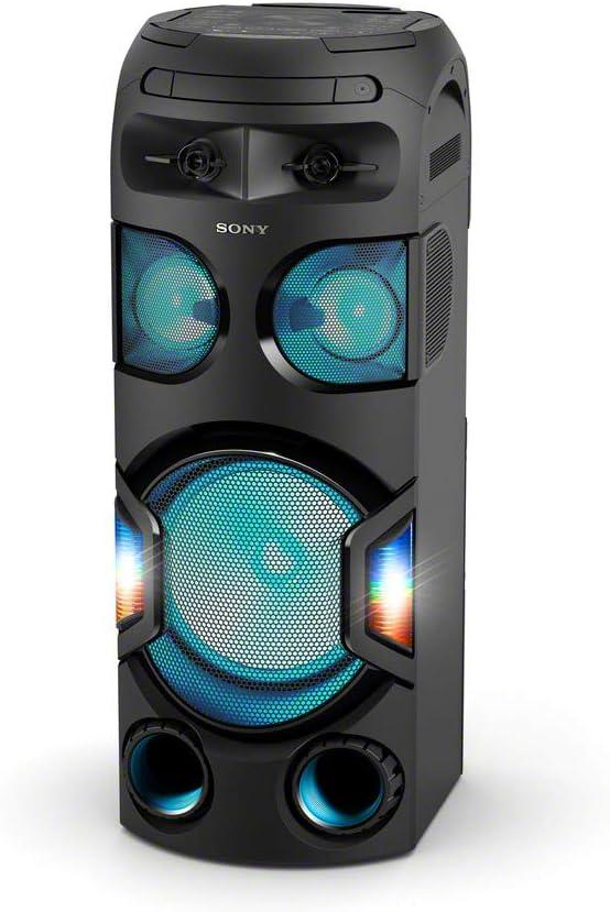 Sony MHC-V72D - Sistema de Audio de Alta Potencia (Bluetooth, Sonido 360 y Graves a Larga Distancia, Luces de Fiesta 360, Control por Voz y Gestos, conectividad con Smartphones) Negro