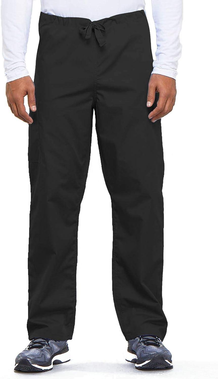 Cherokee Originals Unisex Drawstring Cargo Scrubs Pant, Black, Medium: Clothing