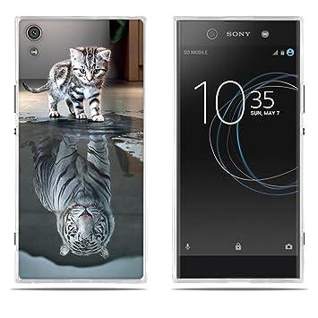 FUBAODA Fundas Carcasas para Sony Xperia XA1 Ultra, Gel de Silicona TPU Carcasas Sueño del Pequeño Tigre, Carcasa Protectora de Goma Sony Xperia XA1 ...