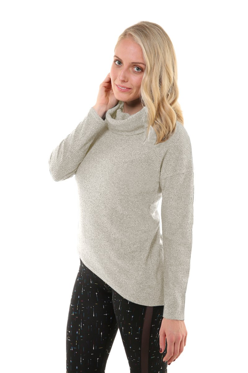 Soybu Womens Serene Sweater, Luna, Large by Soybu