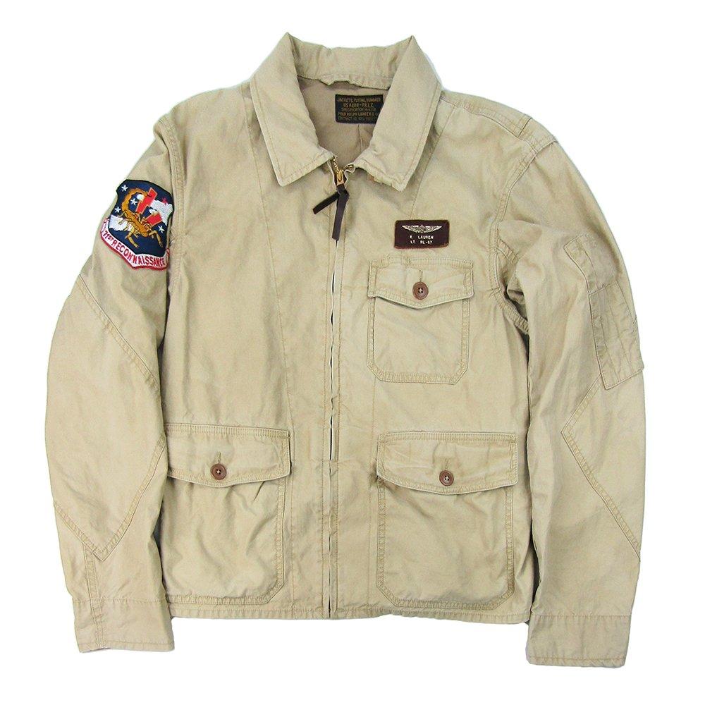 Polo Ralph Lauren Men's Cotton Twill Flight Jacket, Gallery Tan (Medium)