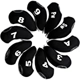 Andux 10pcs/set Golf Irons Club Head Covers with Number Tags Pack of 10