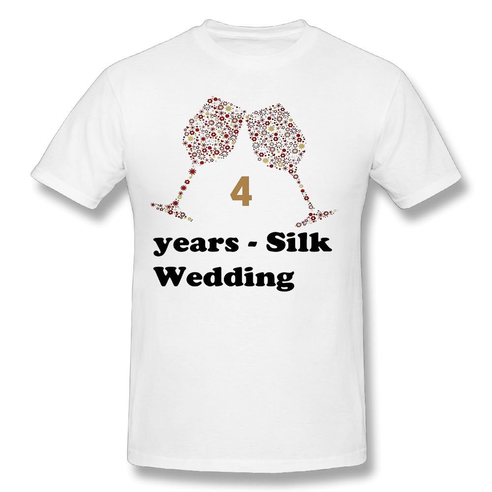 LoveBea Couple Shirts 4th Years - Silk Wedding Anniversary Gifts Marvellous Teen Printed Shirts