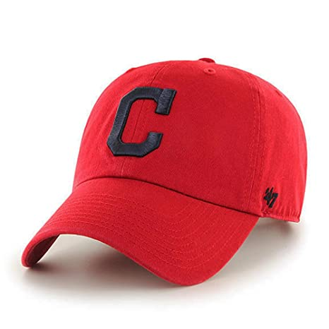 Amazon.com  47 brand Cleveland Indians MLB Clean Up Dad Hat Cap Red Navy   Sports   Outdoors 1d69e2e3f416
