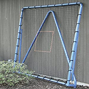 EZGoal Multi-Sport Folding Rebounder Net, 6 x 6-Feet, Blue