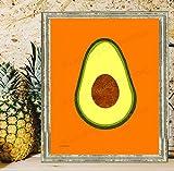 Avocado Art, Modern Kitchen decor, Fruit wall art, Vegetable wall decor, Modern art print, Guacamole art, Mexican wall art, Southwestern art print, Rustic Country kitchen decor