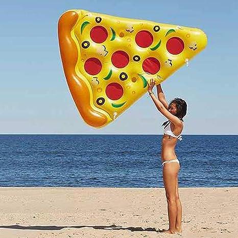 DOSNVG Flotador Inflable de Pizza para Piscina, 6 x 5 pies, PVC ...
