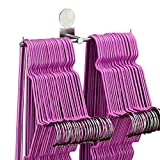 simpletome Clothes Hanger Storage Rack Organizer Wall Mount Adhesive OR Drilling Installation