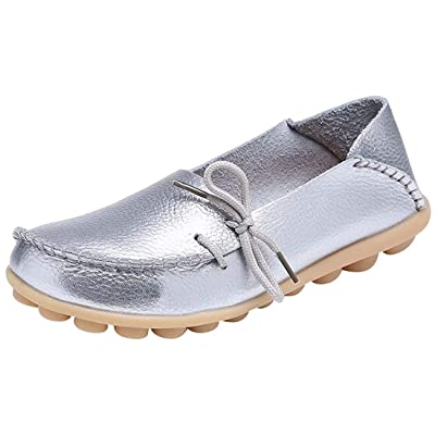 Fangsto Women's Leather Slipper Loafers Flat Shoes Slip-Ons | Loafers & Slip-Ons