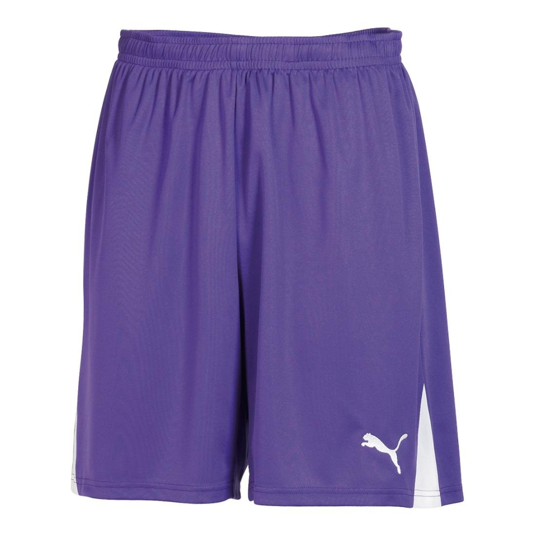 Puma Men's Team Shorts without Inner Slip, Youth Small, Team Violet-Weiß