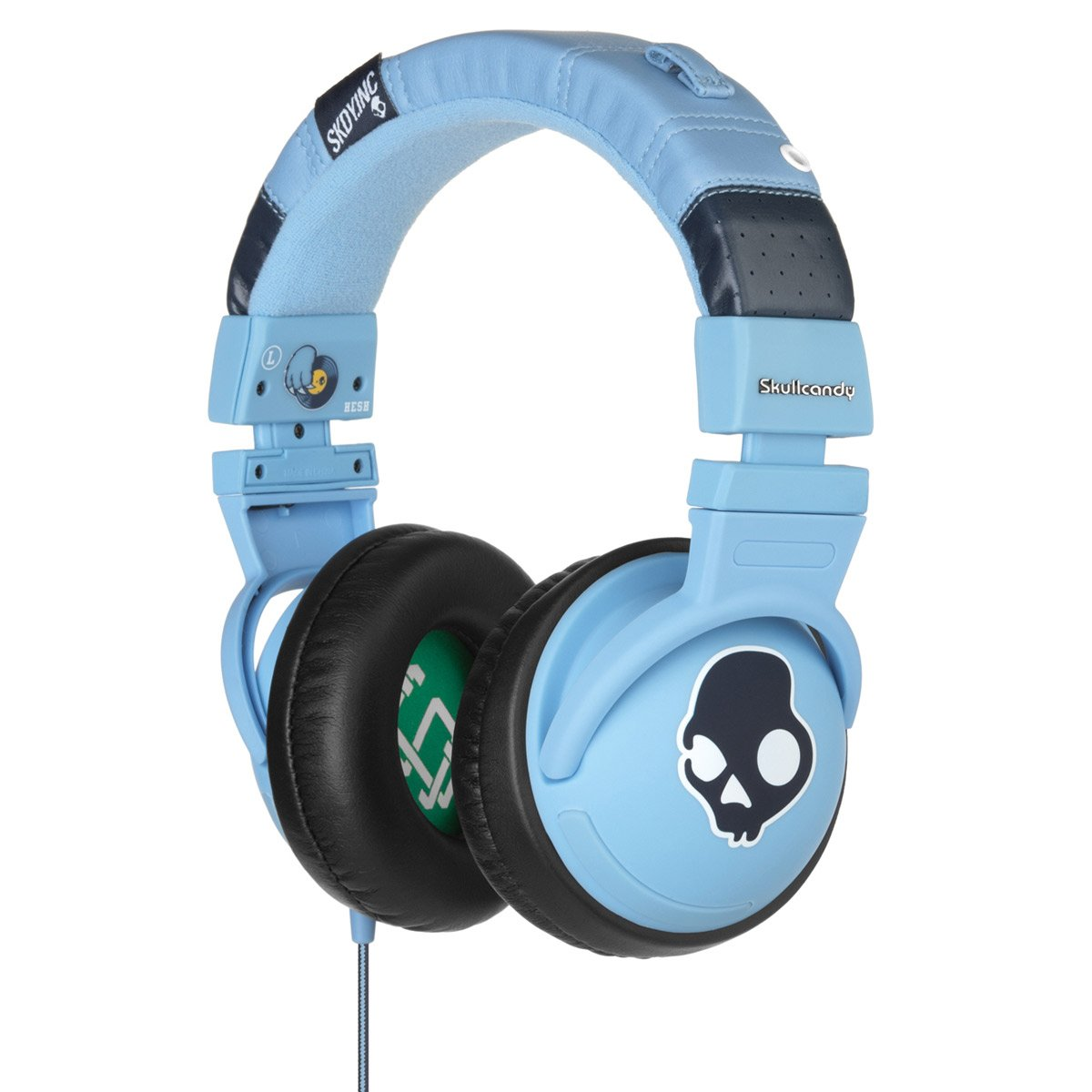 Amazon.com: Skullcandy Hesh Headphones w/Mic - 2011 Light Blue w/Mic ...