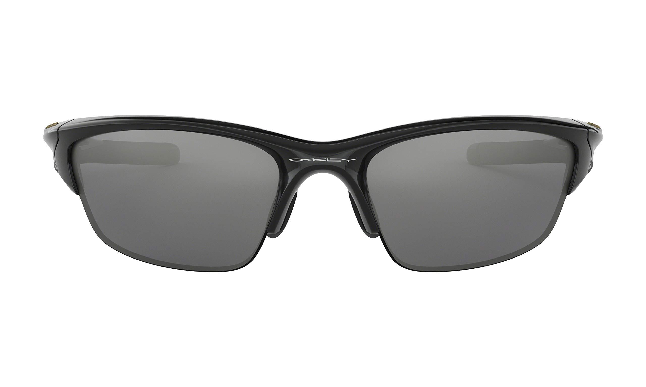 Oakley Half Jacket 2.0 Sunglasses (Polished Black Frame, Black Iridium Lens) with Lens Cleaning Kit and Ellipse O Carbonfiber Hard Case by Oakley