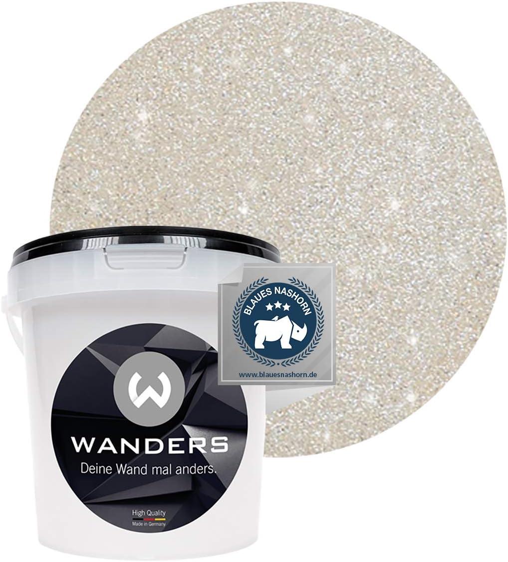 Wanders24 Glimmer Optik 1 Liter Gold Sand Glitzer Wandfarbe Wandfarbe Glitzer Abwaschbare Wandfarbe Glitzerfarbe Made In Germany Amazon De Baumarkt