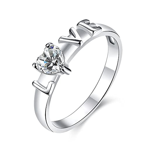 Amazon.com: Anillo de acero inoxidable con forma de amor ...