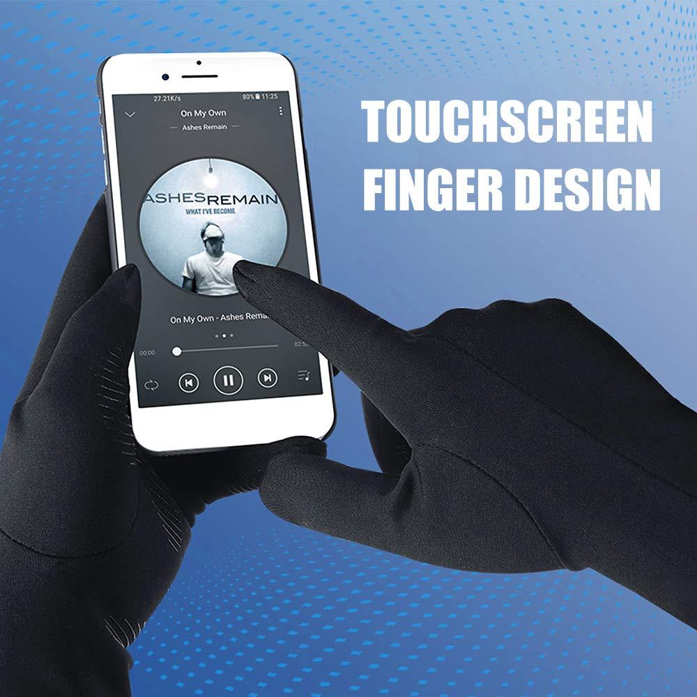 Guanti Touchscreen con Fodera in Pile Polare Sottile Guanti Sportivi Antivento Explopur Guanti Invernali Uomo Donna