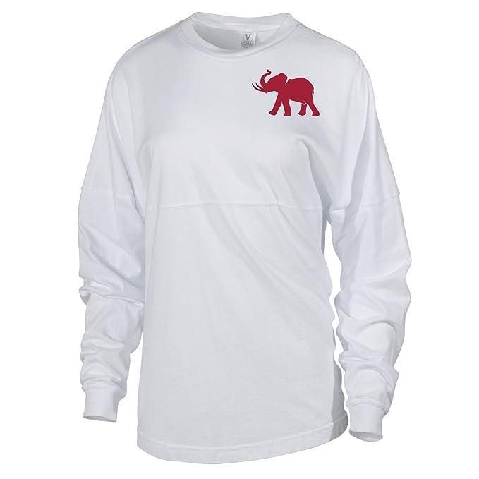 outlet store 7e9c1 df37a Official NCAA University of Alabama Crimson Tide UA ROLL TIDE! Women's Long  Sleeve Spirit Wear Jersey T-Shirt