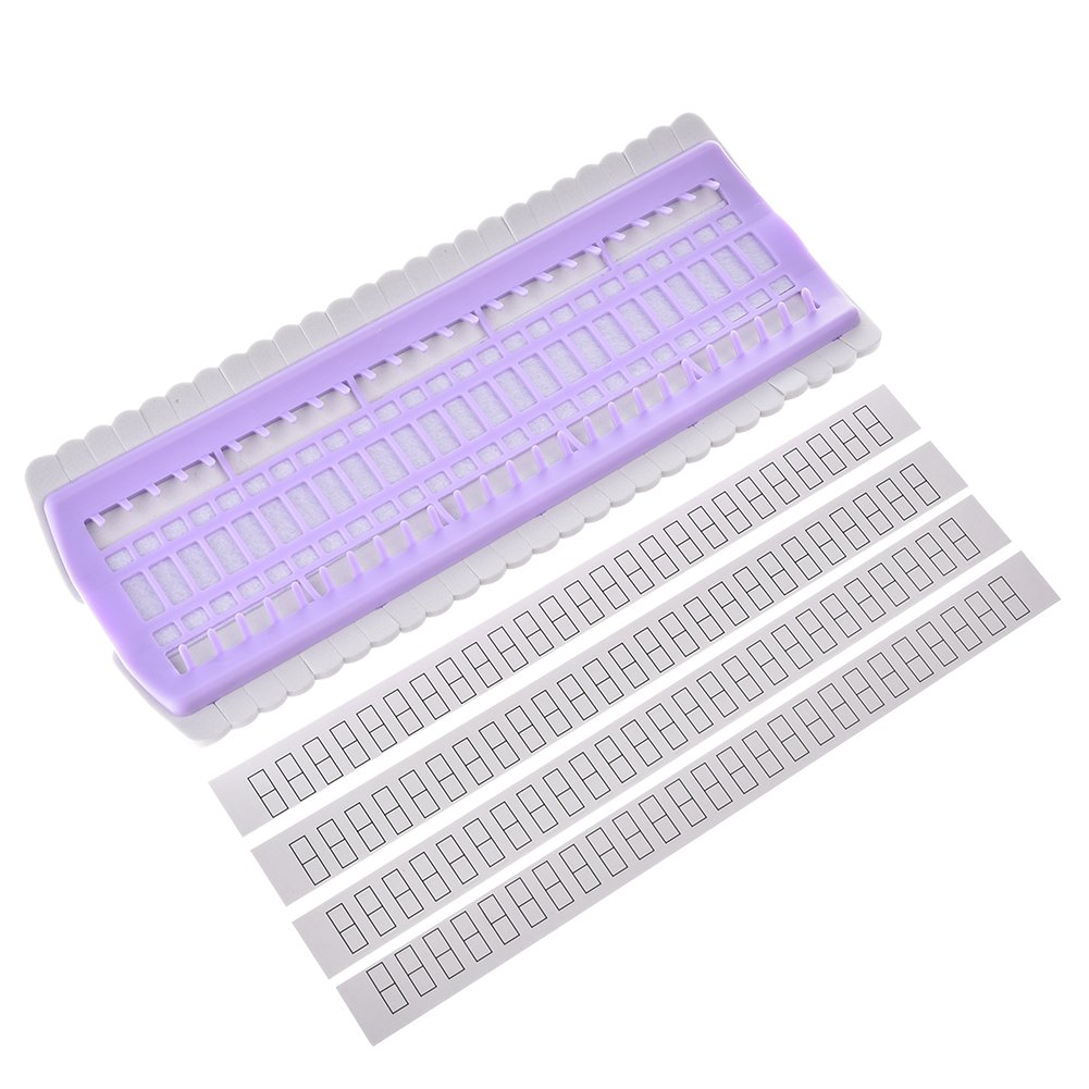Pueri Embroidery Floss Organizer 50 Positions Sewing Needle Pins Holder Cross Stitch Kit Embroidery Thread Project Dedicated Tool DIY Sewing Tools (jelly pink)