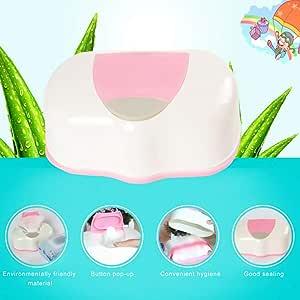 Dispensador de toallitas de plástico para toallitas de bebé, organizador de pañales, caja de pañales portátil para pañales húmedos: Amazon.es: Hogar