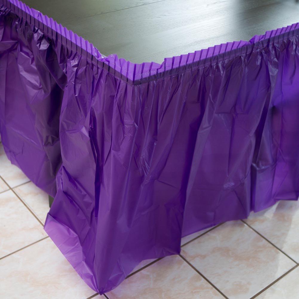 Purple Plastic Table Skirt 29 x 14 Rectangular Party GAM Associates 203-775