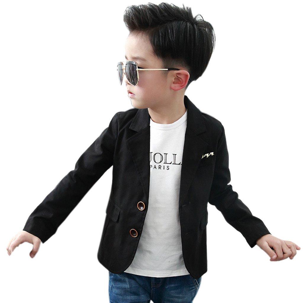 SKY-ST Boys Fashion Blazers Casual Jackets