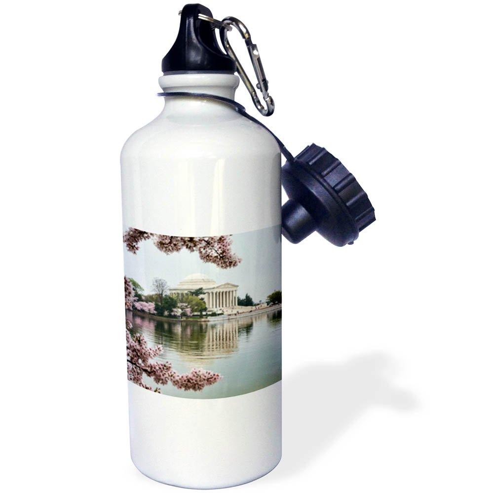 3drose Danita Delimont – Memorials – ワシントンD。C。、ジェファーソン記念館with Cherry Blossoms at Sunrise – フリップストロー水ボトル21oz ( WB _ 278848 _ 2 ) B07BH882F9