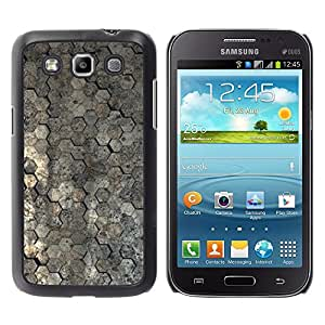 KOKO CASE / Samsung Galaxy Win I8550 I8552 Grand Quattro / papel pintado superficie de diseño de arquitectura patrón / Delgado Negro Plástico caso cubierta Shell Armor Funda Case Cover